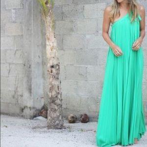 dbf08e8529 BCBGMaxAzria Dresses - BCBG Abee Pleated One Shoulder Maxi Dress